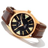 Eterna Men's Kontiki Swiss Made Automatic Leather Strap Watch