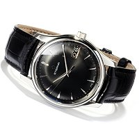 Eterna Men's Vaughan Swiss Made Automatic Leather Strap Watch