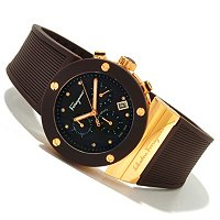 Ferragamo Men's Gancino Sport Swiss Made Quartz Rubber Strap Watch