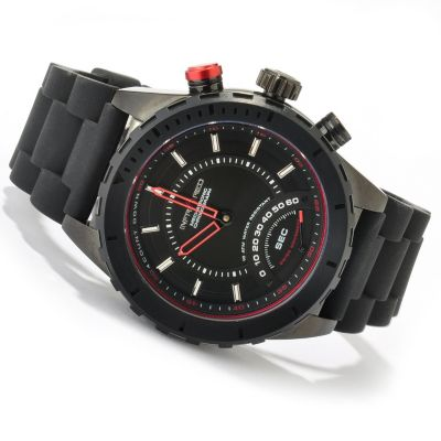 619-633 - Infrared® Men's Red Zone Swiss Quartz Mechatronic Chronograph Rubber Strap Watch