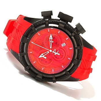 619-643 - Invicta Reserve Men's Bolt Swiss Quartz Chronograph Silicone Strap Watch