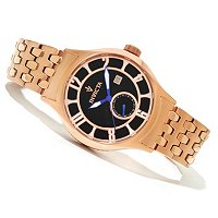 INVICTA MEN'S VINTAGE DAY & DATE QUARTZ BRACELET WATCH