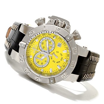 619-664 - Invicta Women's Subaqua Noma III Quartz Chronograph Leather Strap Watch