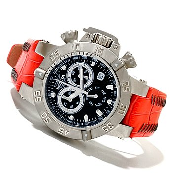 619-665 - Invicta Women's Subaqua Noma III Quartz Chronograph Leather Strap Watch