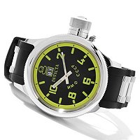INIVCTA MEN'S RUSSIAN DIVER QUARTZ BIG DATE POYLURETHANE STRAP WATCH W/DC