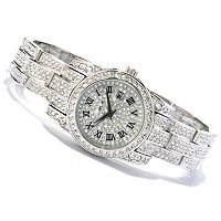 Adee Kaye Women's Crystal Bracelet Watch