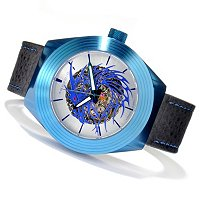 Android Men's Tattooed Dragon Skeleton Automatic Strap Watch