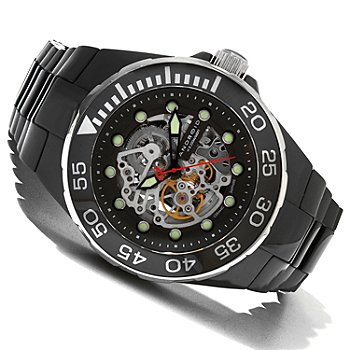 619-689 - Android Men's Hercules Automatic Skeletonized Dial Ceramic Bracelet Watch