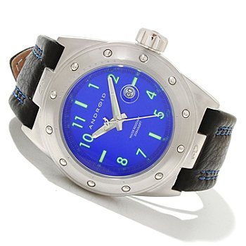 619-697 - Android Men's RPM 2 Quartz Leather Strap Watch