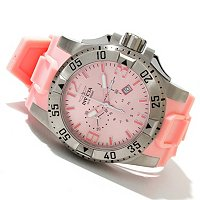 INVICTA MEN'S EXCURSION SWISS MADE CHRONO STAINLESS CASE POLY STRAP WATCH