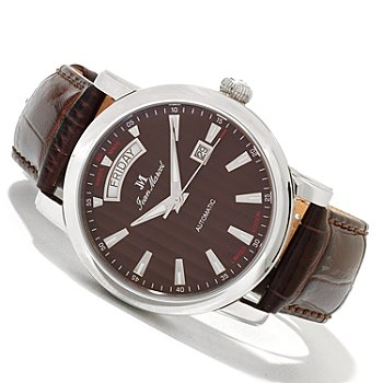 619-702 - Jean Marcel Men's Clarus Limited Edition Swiss Made Automatic Leather Strap Watch