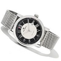 JEAN MARCEL MEN'S CLARUS SWISS MADE LTD ED AUTOMATIC MESH BRACELET WATCH