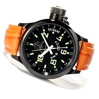 INVICTA MEN'S RUSSIAN DIVER QUARTZ GMT GENUINE ALLIGATOR STRAP WATCH