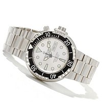 DEEP BLUE MEN'S SUNRAY 2 DIVER 1000 AUTO DAY & DATE STAINLESS BRACELET WATCH
