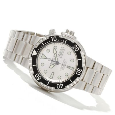 619-737 - Deep Blue Men's Sunray Diver II Automatic Stainless Steel Bracelet Watch
