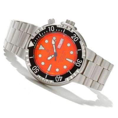 619-738 - Deep Blue Men's Sunray Diver II Automatic 100 ATM Stainless Steel Bracelet Watch
