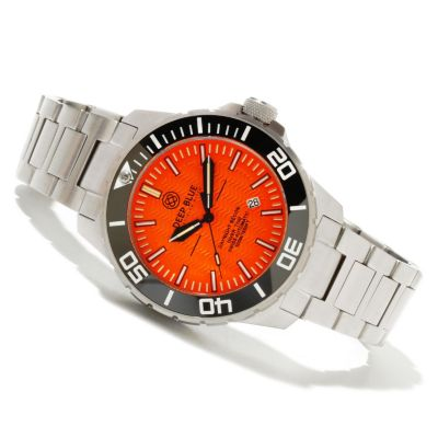 619-752 - Deep Blue Men's T-100 Tritium Recon 65 Swiss Automatic Stainless Steel Bracelet Watch