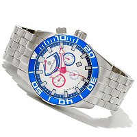 DEEP BLUE MEN'S CAL DIVER AUTOMATIC MASTER CALENDAR STAINLESS BRACELET WATCH