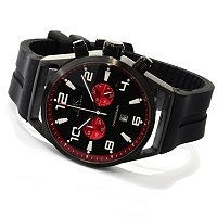 ADEE KAYE MEN'S CHRONOGRAPH SILICON STRAP WATCH