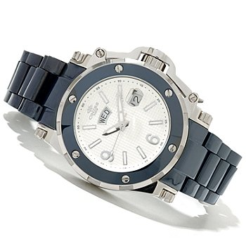 619-787 - Oniss Men's Ceramic Guard Quartz Stainless Steel Ceramic Bracelet Watch