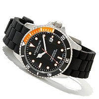 Stuhrling Original Men's Regatta Diver Sport Quartz Rubber Strap Watch