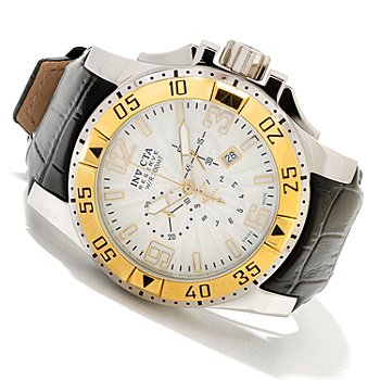 619-812 - Invicta Reserve Men's Excursion Elegant Swiss Quartz Chronograph Leather Strap Watch