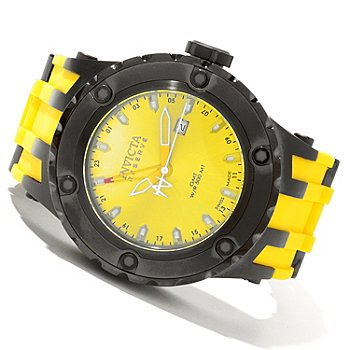 619-820 - Invicta Reserve Men's Specialty Subaqua Swiss Quartz GMT Polyurethane Strap Watch
