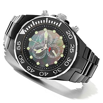 619-827 - Android Men's Hercules Quartz Chronograph Mother-of-Pearl Ceramic Bracelet Watch
