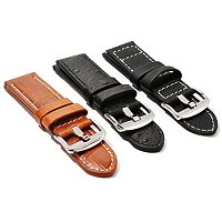3 Pc Strap Set: 24 mm Simulated Ostrich, Simulated Crocodile, & Polyfiber Strap