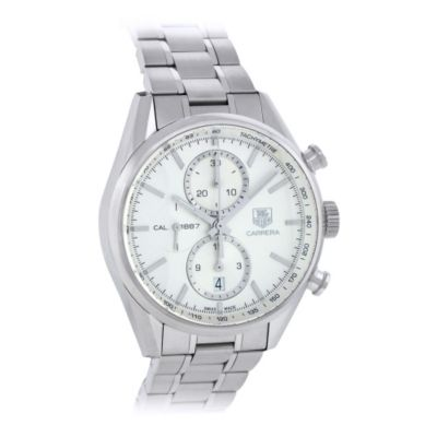 619-848 - Tag Heuer Men's Carrera Swiss Quartz Stainless Steel Bracelet Watch