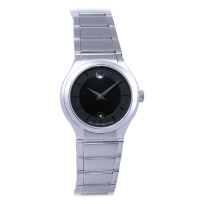 619-876 - Movado Women's Quadro Swiss Made Quartz Stainless Steel Bracelet Watch