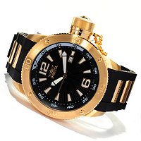 INVICTA MEN'S I FORCE QUARTZ DATE PU STRAP WATCH