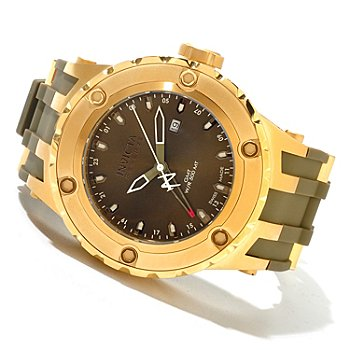619-917 - Invicta Reserve Men's Specialty Subaqua Swiss Made Quartz GMT Polyurethane Strap Watch
