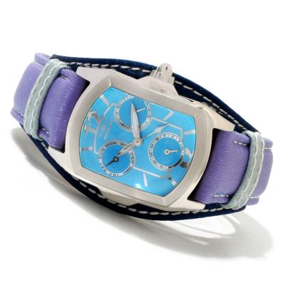 619-930 - Invicta Women's Lupah Couture Quartz Stainless Steel Leather Strap Watch