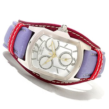 619-931 - Invicta Women's Lupah Couture Stainless Steel Leather Strap Watch