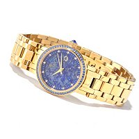 CLARA WOMEN'S CRYSTAL ACCENTED MOP DIAL BRACELET WATCH