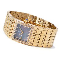 CLARA WOMEN'S CRYSTAL ACCENTED QUARTZ BRACELET WATCH