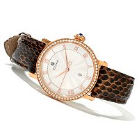 CLARA WOMEN'S CRYSTAL ACCENTED QUARTZ STRAP WATCH