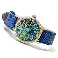 CONSTANTIN WEISZ WOMEN'S PEACOCK DIAL AUTOMATIC STRAP WATCH