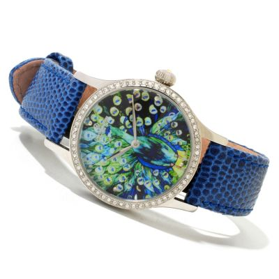 619-954 - Constantin Weisz Women's Automatic Strap Watch Made w/ Swarovski® Elements