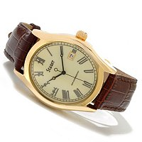 Stauer Men's Briton Leather Strap Watch