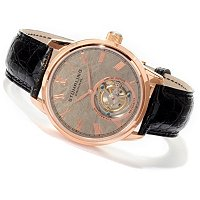 TTV STUHRLING ORIGINAL MEN'S METEORITE TOURBILLON STRAP WATCH