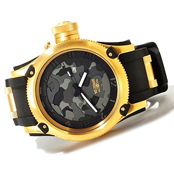 619-972 - Invicta Men's Russian Diver Limited Edition Swiss Made Quartz Camouflage Dial Strap Watch