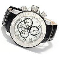INVICTA MEN'S SEA HUNTER ELEGANT SWISS MADE QUARTZ CHRONO STRAP WATCH