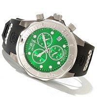 INVICTA MEN'S GRAND DIVER QUARTZ CHRONO POLYURETHANE STRAP WATCH
