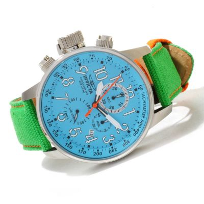 620-011 - Invicta Men's I Force Quartz Chronograph Stainless Steel Rifle Leather Strap Watch