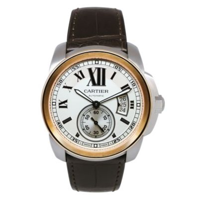 620-026 - Cartier Men's Calibre Swiss Made Quartz Leather Strap Watch