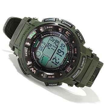 620-048 - Casio Men's Pro-Trek Solar Power Digital Alarm Strap Watch 1