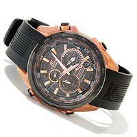 Casio Edifice Black Label Quartz chronograph strap watch
