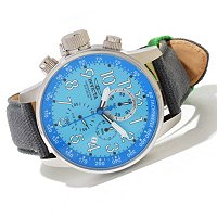 INVICTA MEN'S I FORCE LEFTY QUARTZ CHRONO RIFLE LEATHER STRAP WATCH